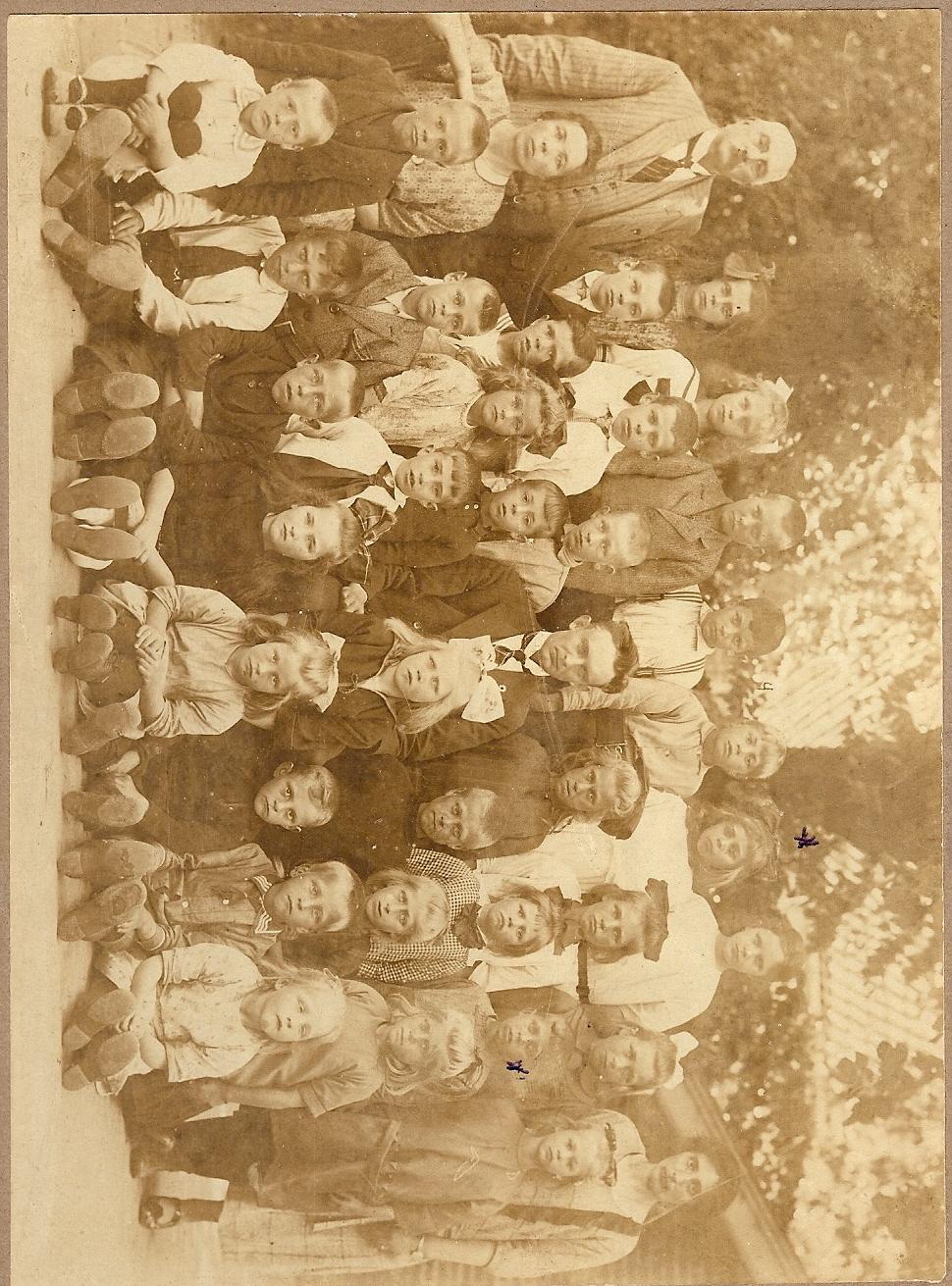 Klassenfoto lagere school Stationsstraat Appingedam