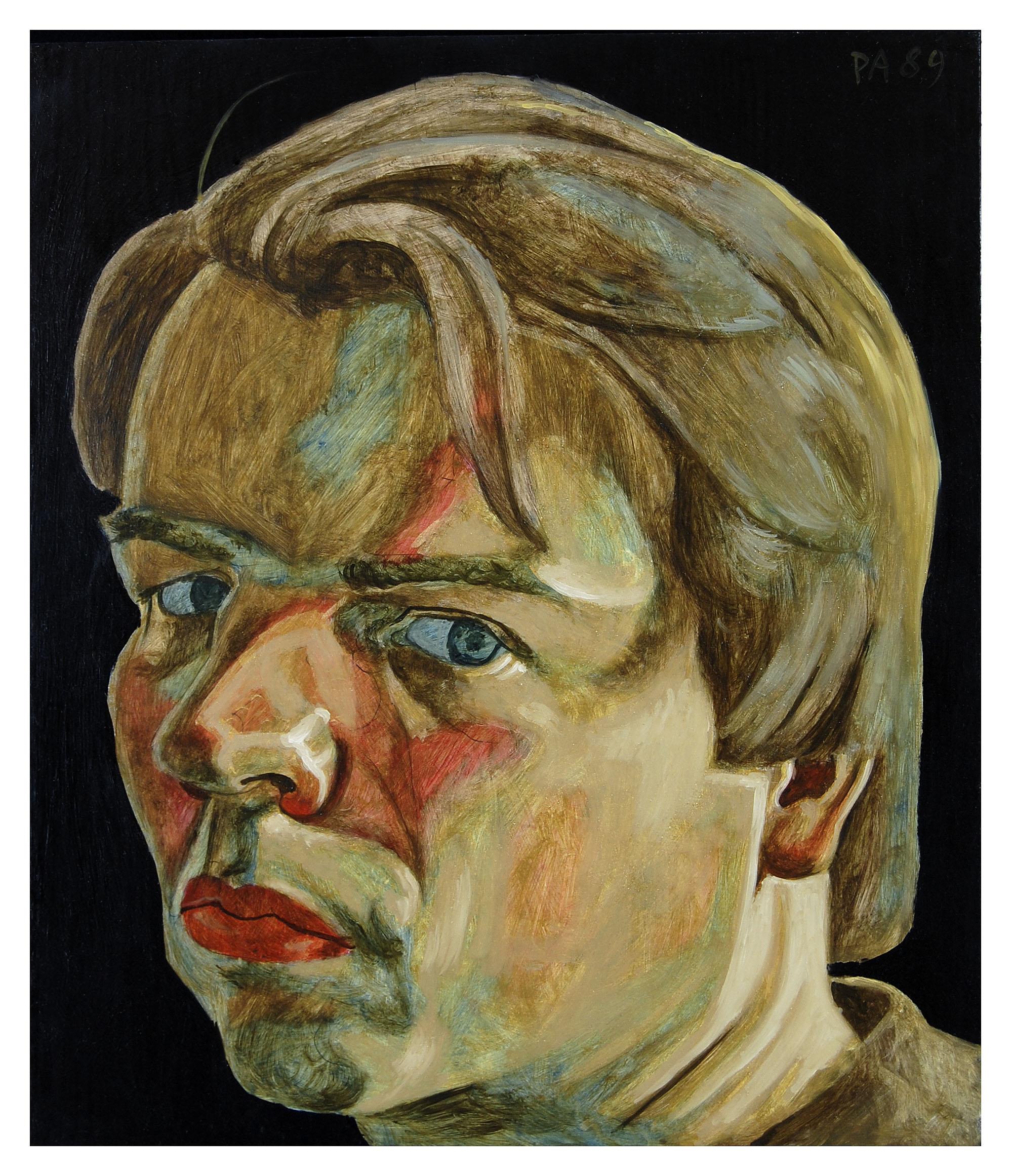 Zelfportret, trois-quart met lok op voorhoofd