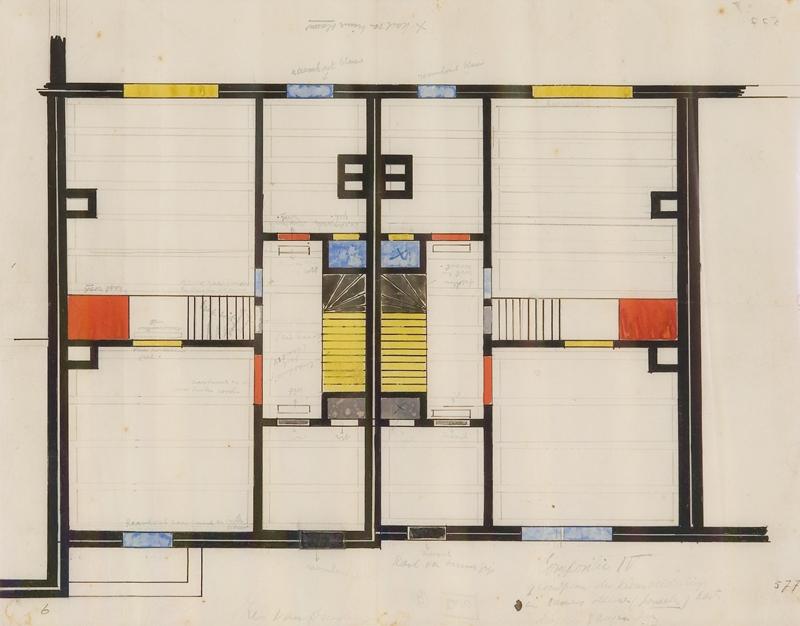 Kleurontwerp voor verdieping compositie IV