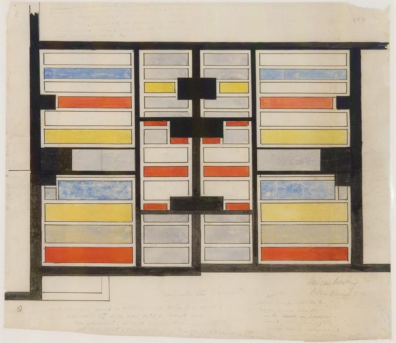 Kleurontwerp voor de plafonds compositie III
