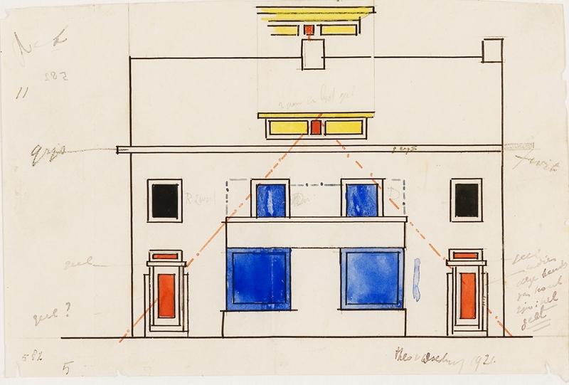 Kleurontwerp, exterieur 2 woningen Torenstraat