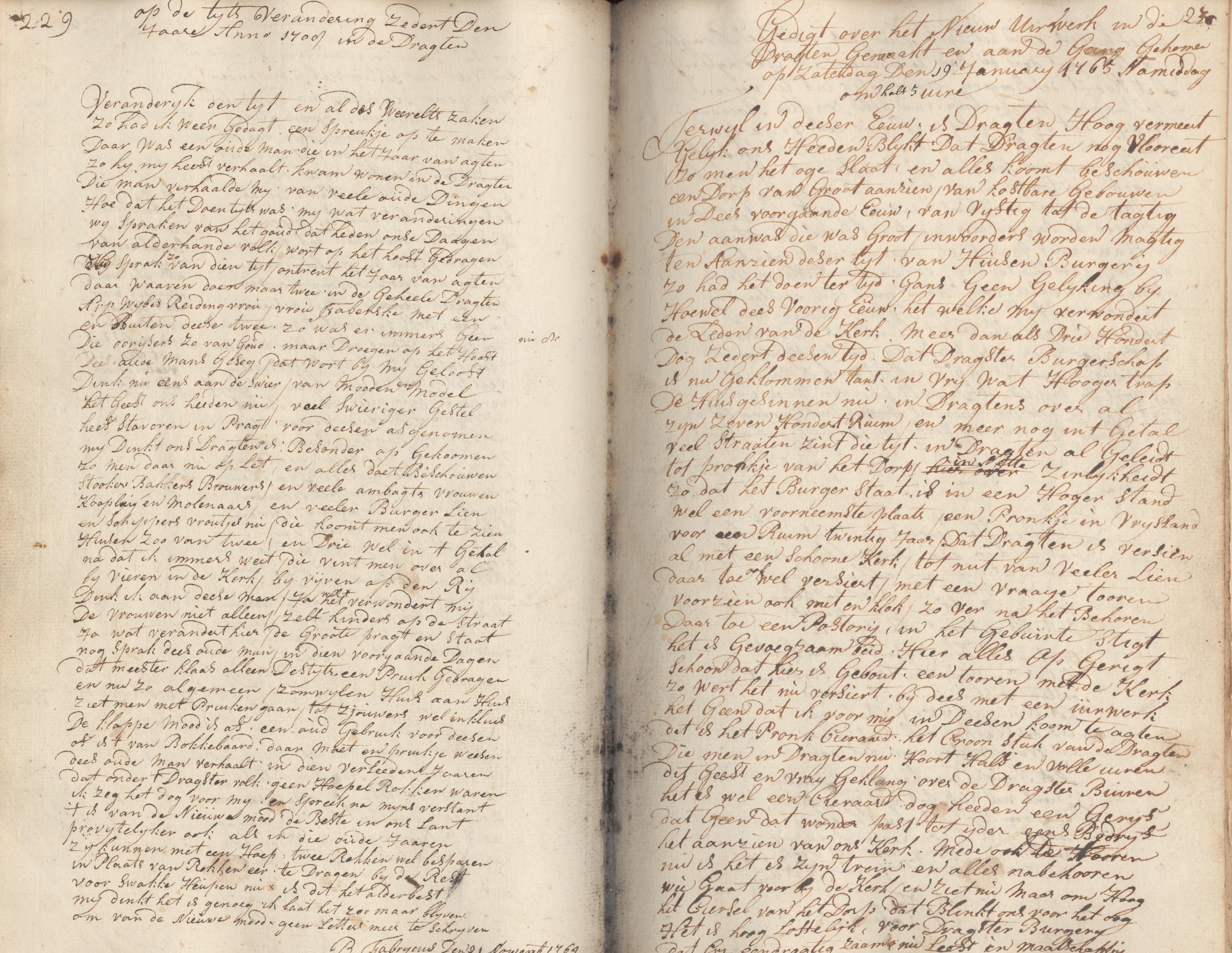 Op de tijts Verandering Zedert Den Jaare Anno 1700 in de Dragten