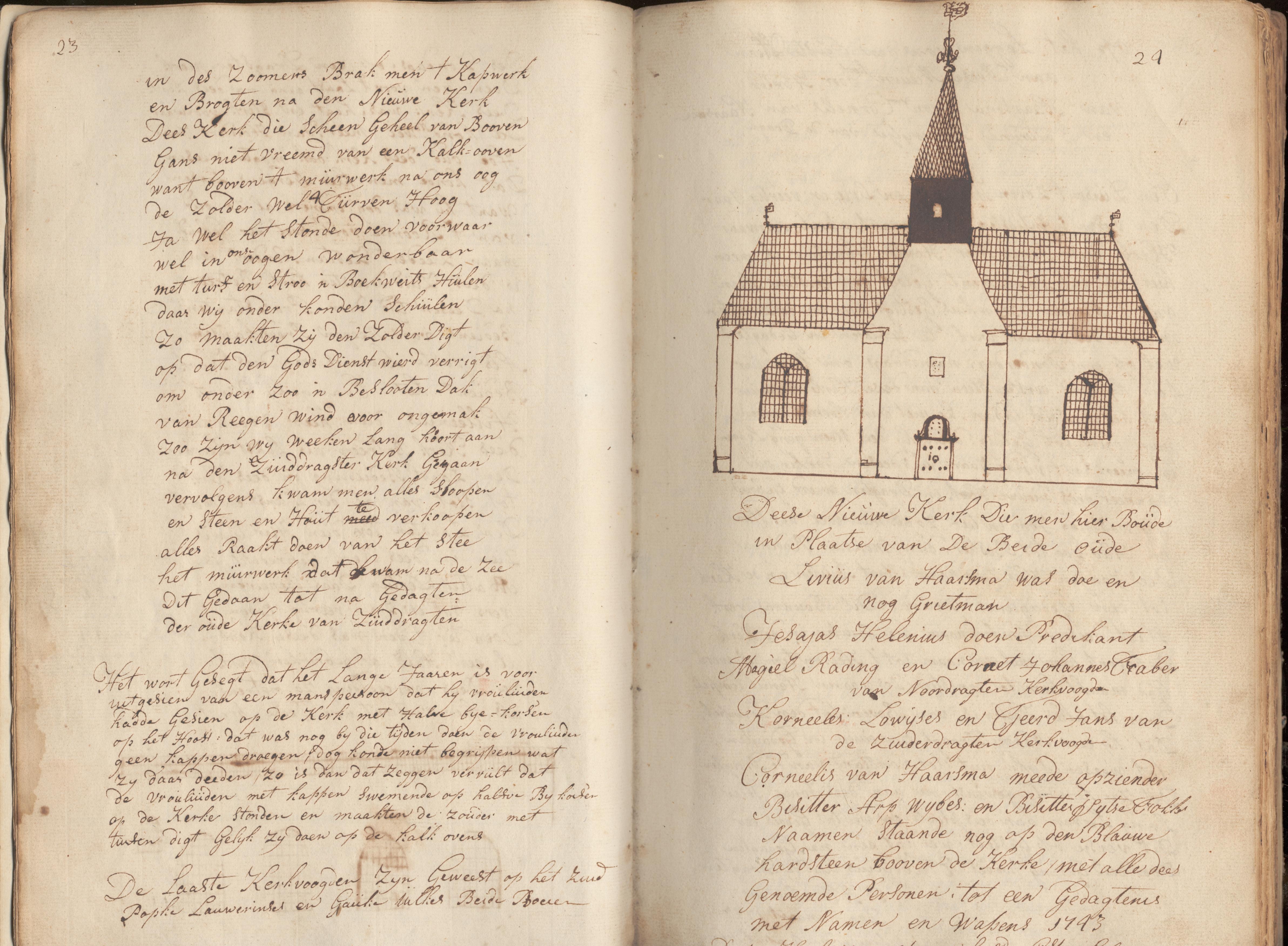 Nieuwe kerk 1743