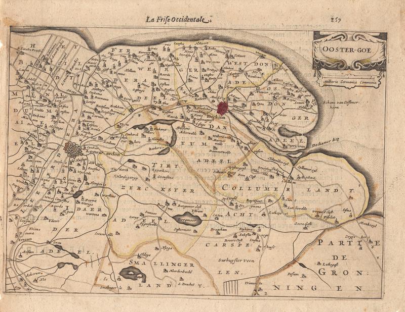 Kaart van Ooster-goe