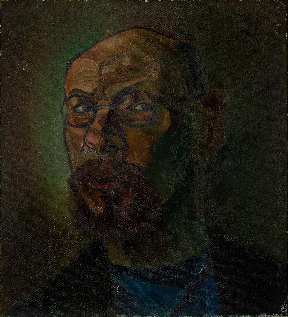 Zelfportret met bril