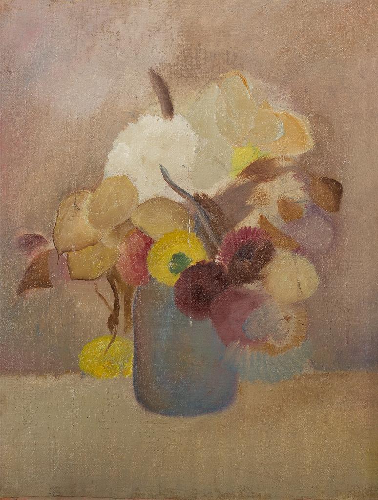 Stilleven met bloemen in vaas