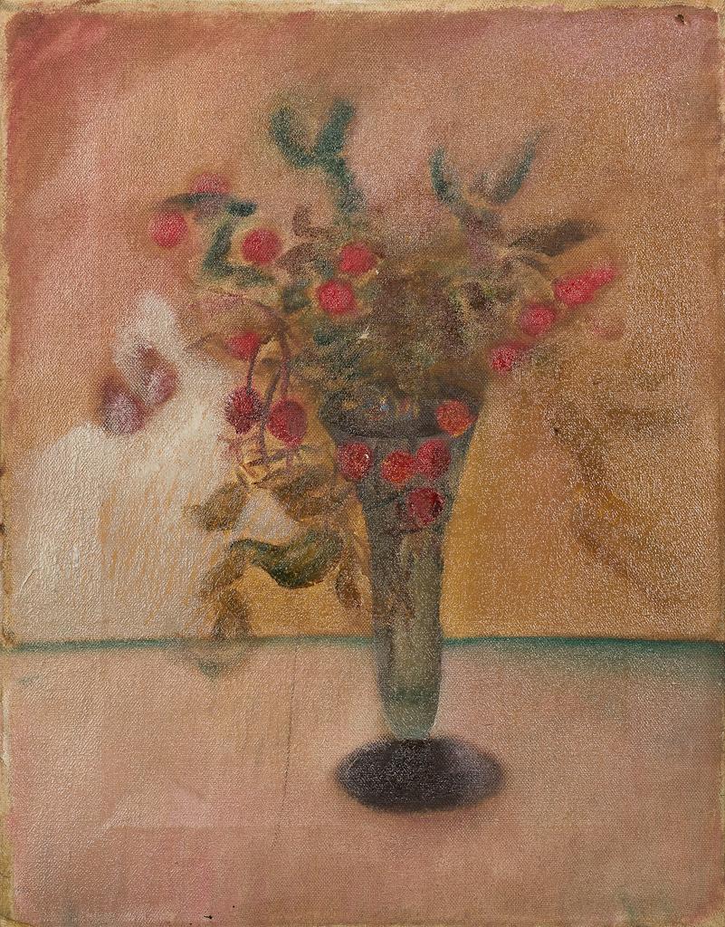 Stilleven, met bloemen in vaas
