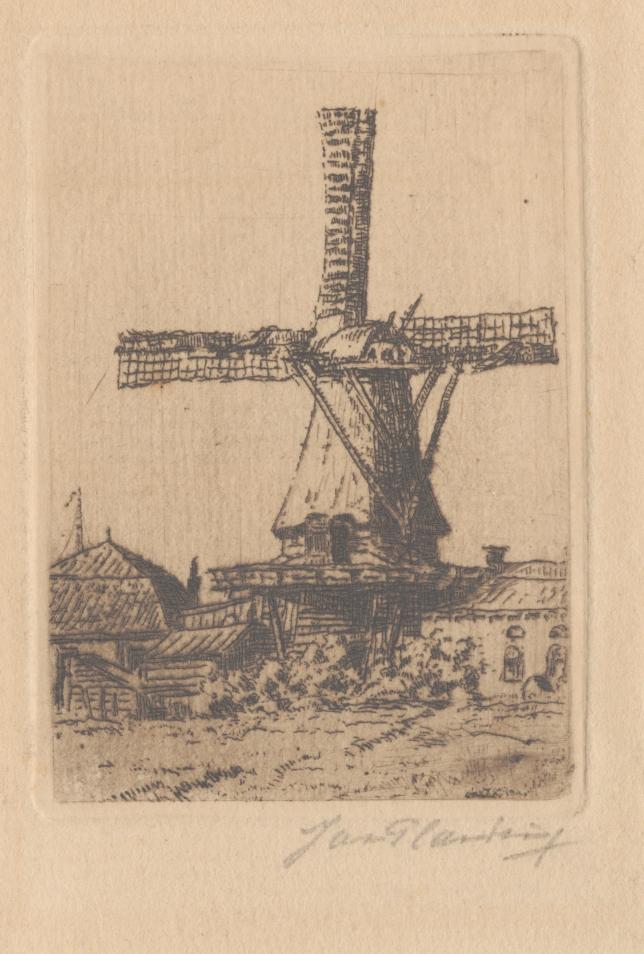 """Ets van de molen """"De Hoop"""" van dhr Weiss aan het Oosteinde te Drachten"""