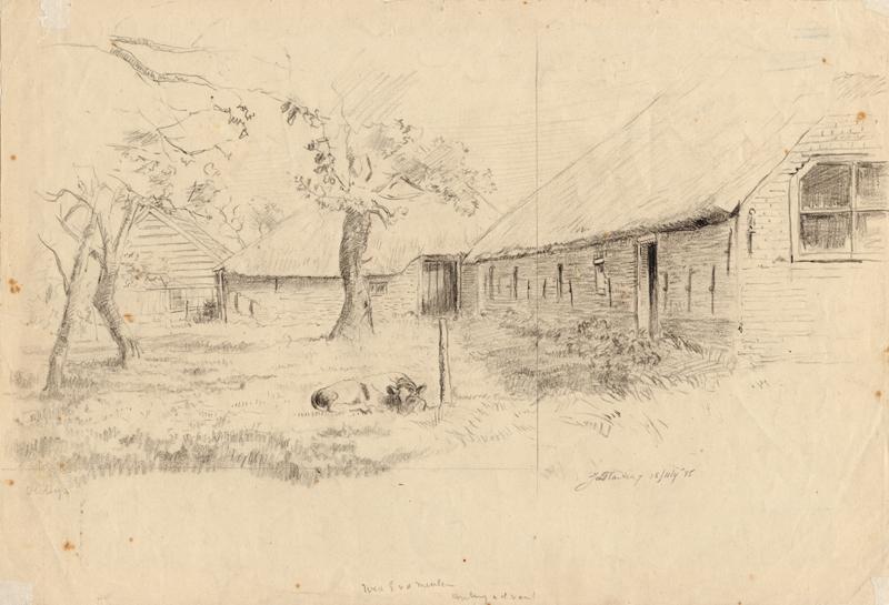 Een boerderij aan de Ureterpervaart