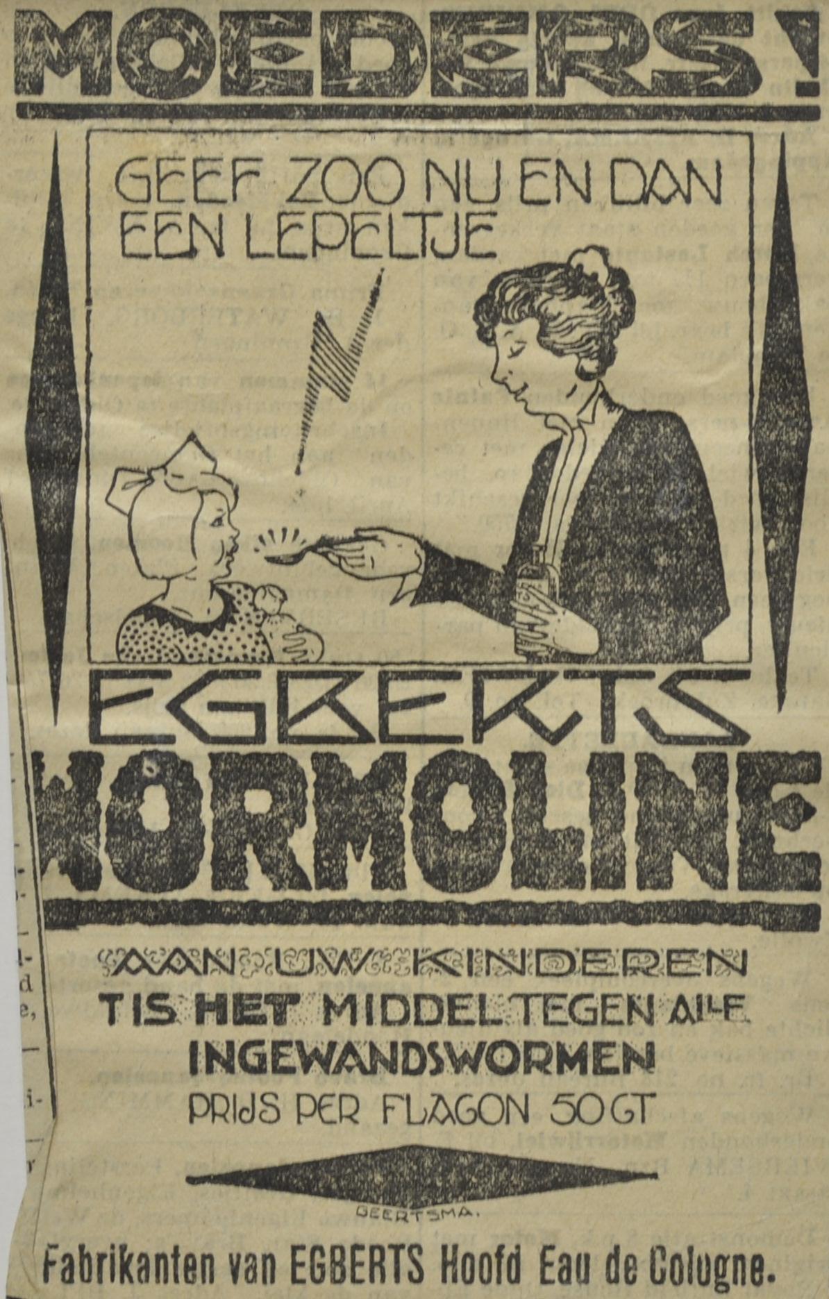 Wormoline, 1918-1940