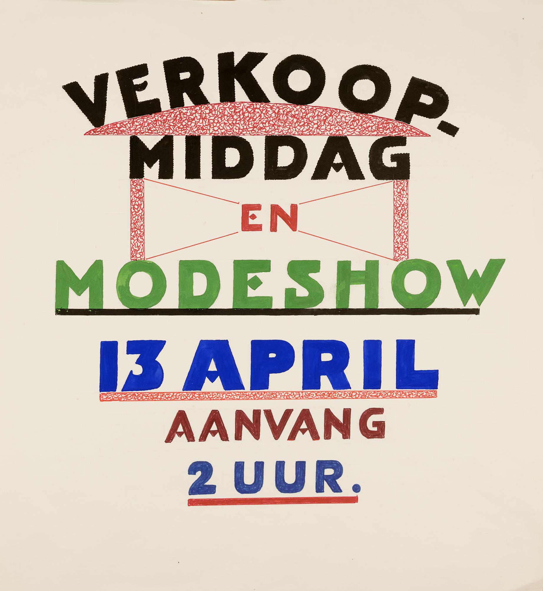 Verkoopmiddag en Modeshow