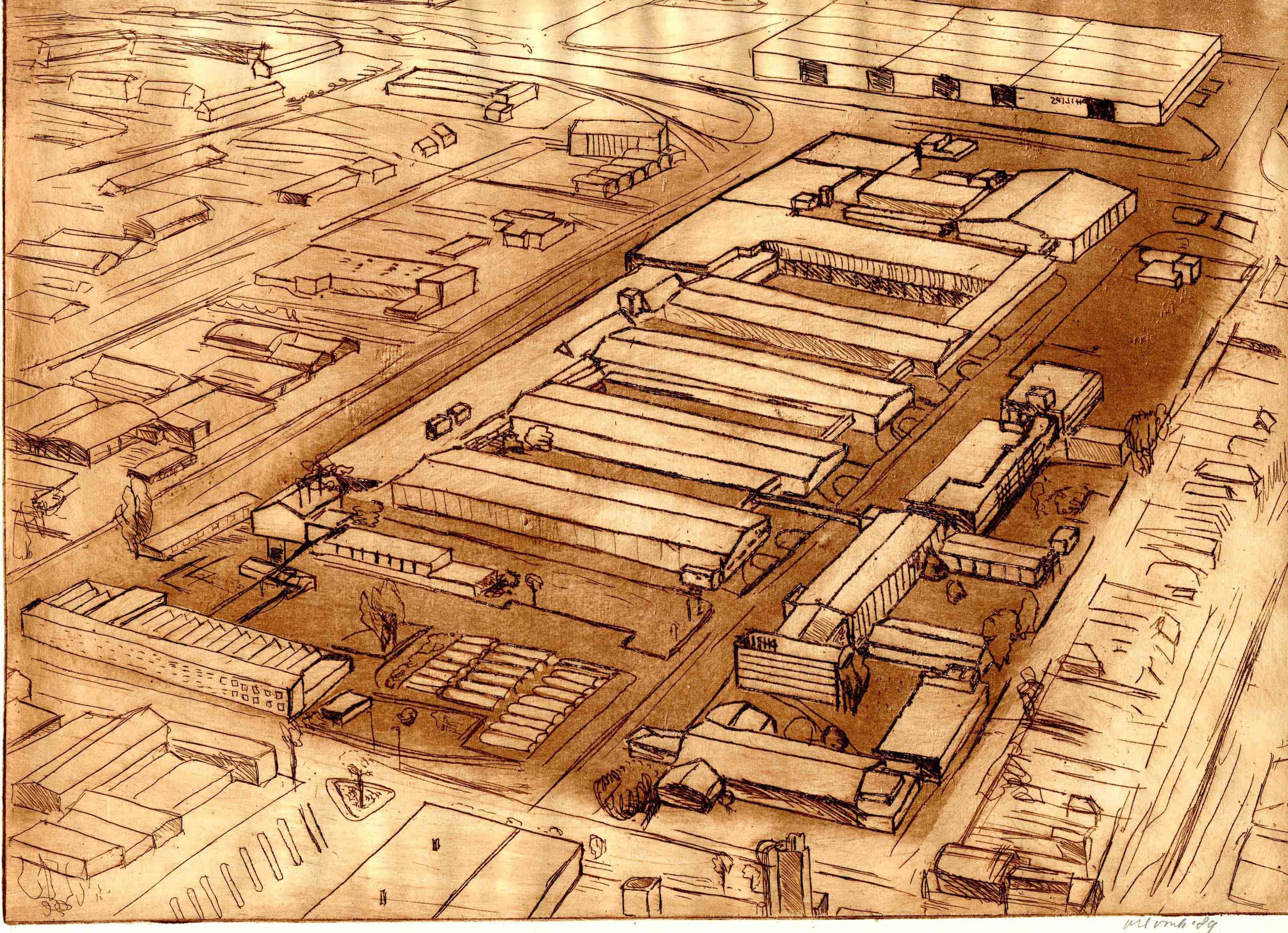 Ets van de Oliemolenstraat met Philips fabriek