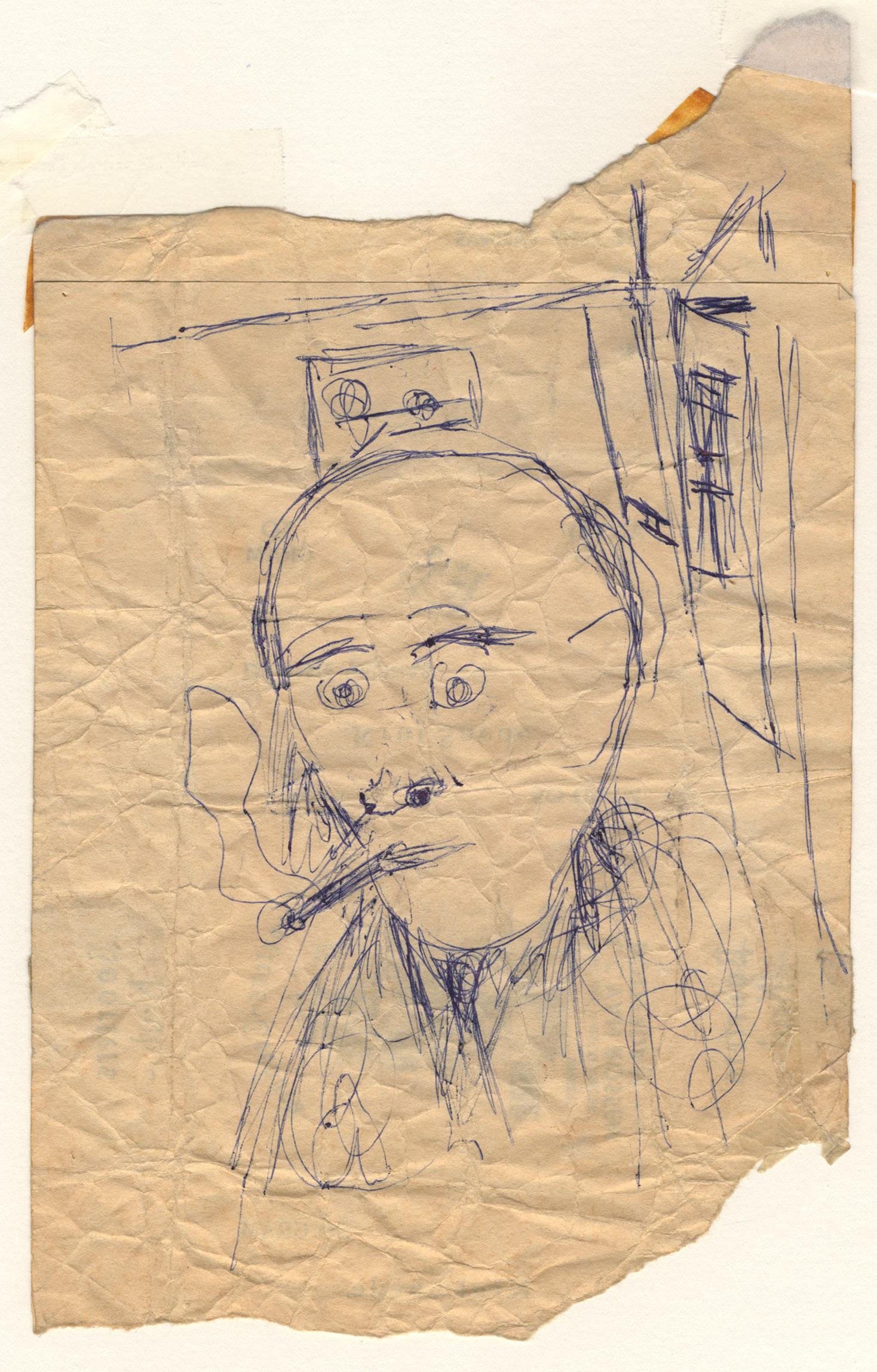 Het portret van een rokende man