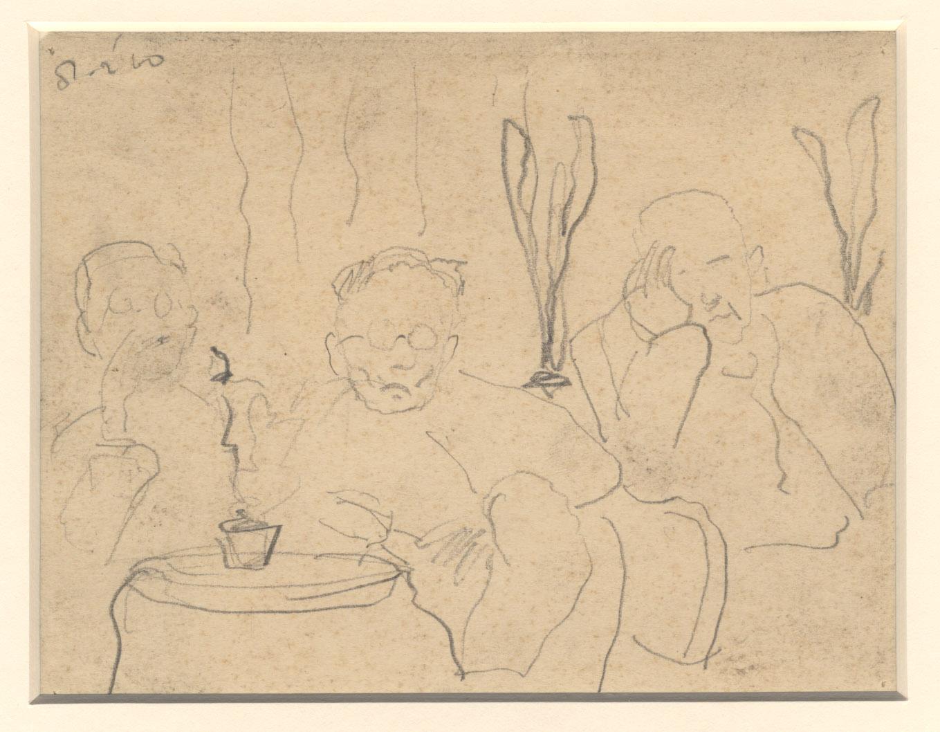 Het portret van drie patiënten, ze zitten bijna te slapen