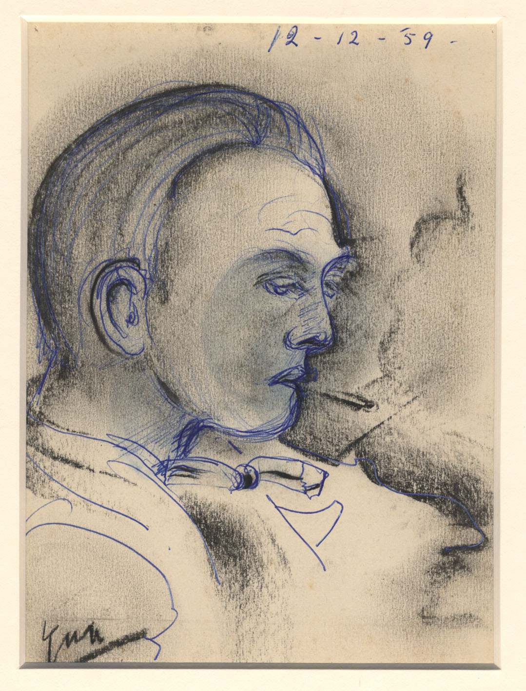 Een rokende man