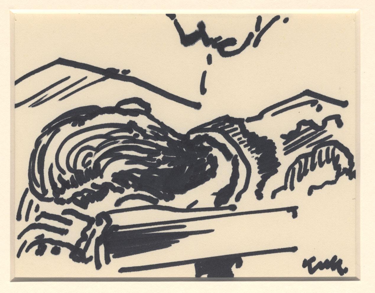 Portret van een liggende man
