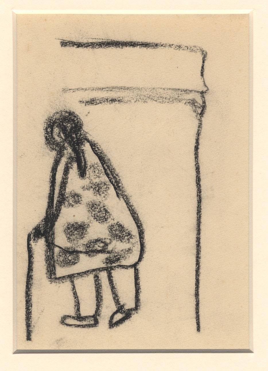 Vrouw met nachthemd