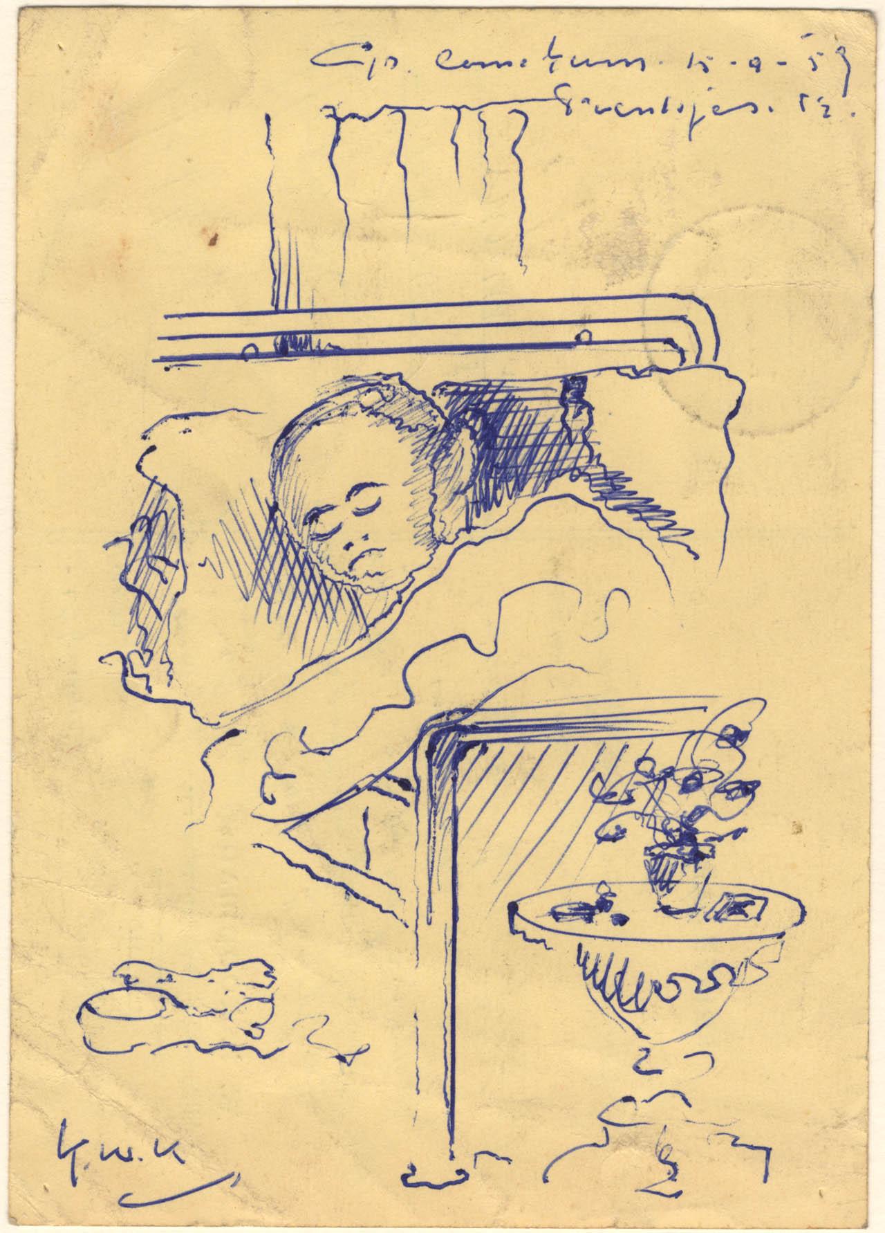 Een patiënt in bed