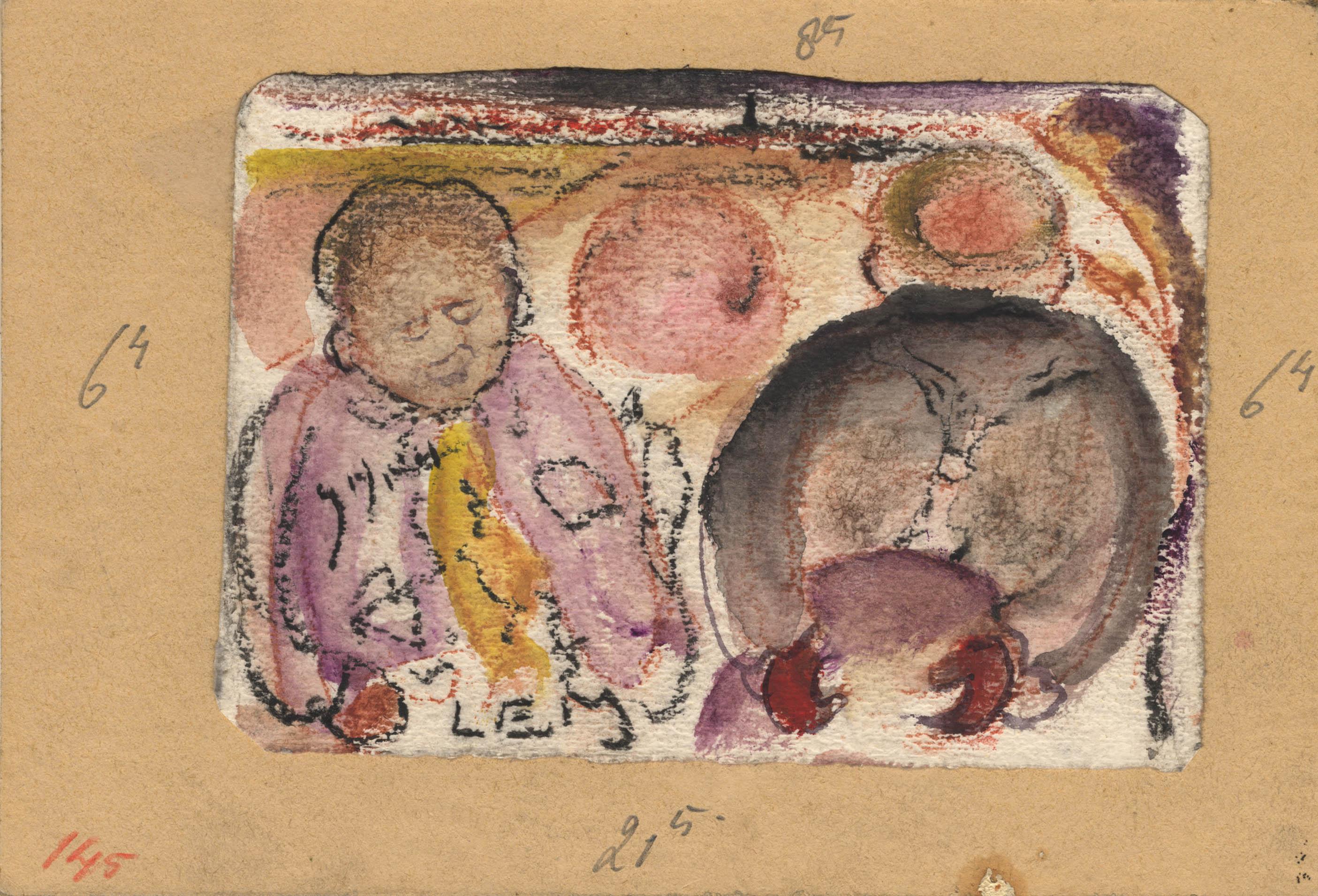 Twee patiënten, met contouren van een dorp