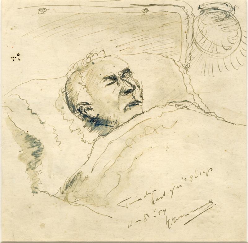 De heer Tuinstra in bed