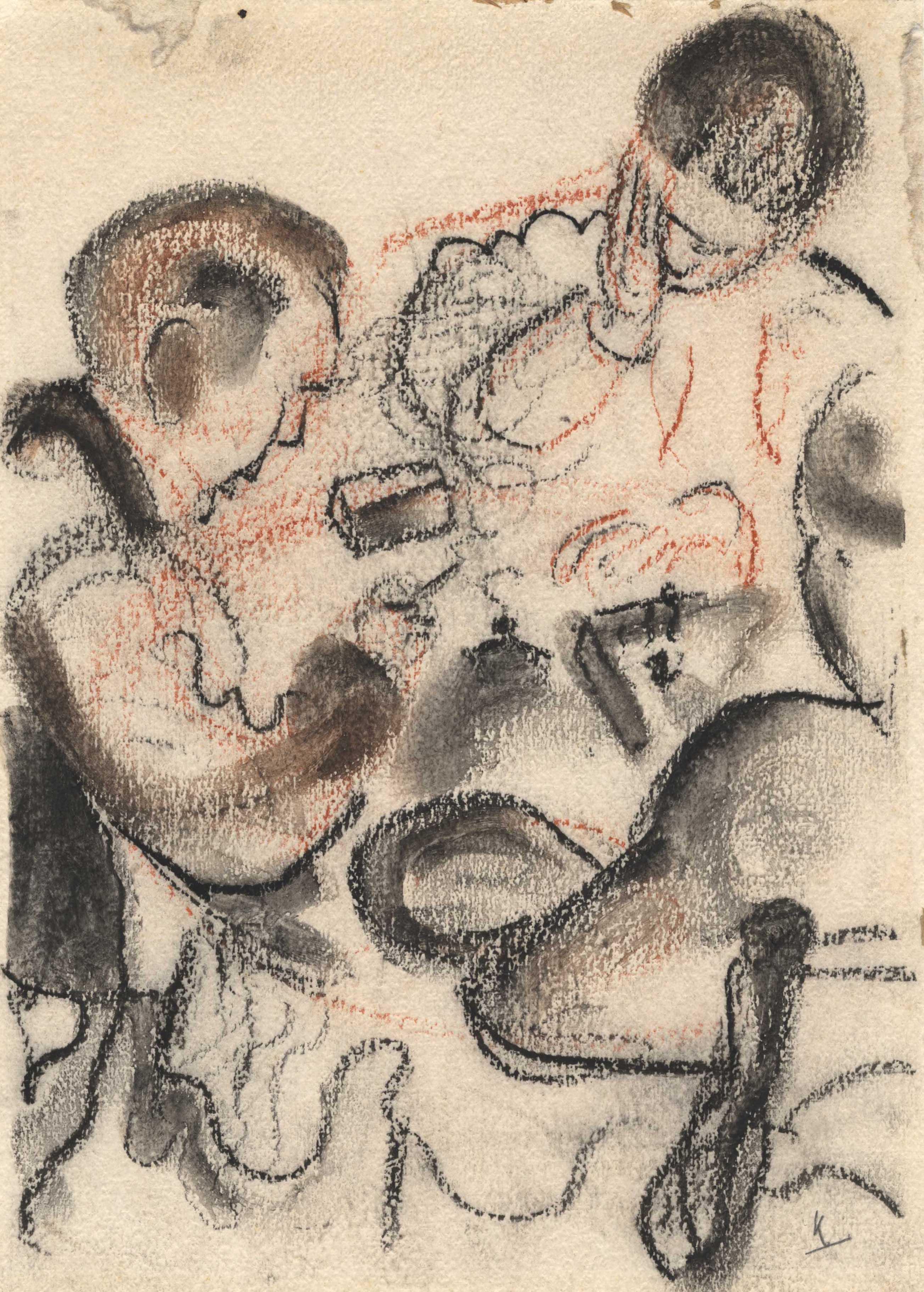 Drie patiënten aan een tafel