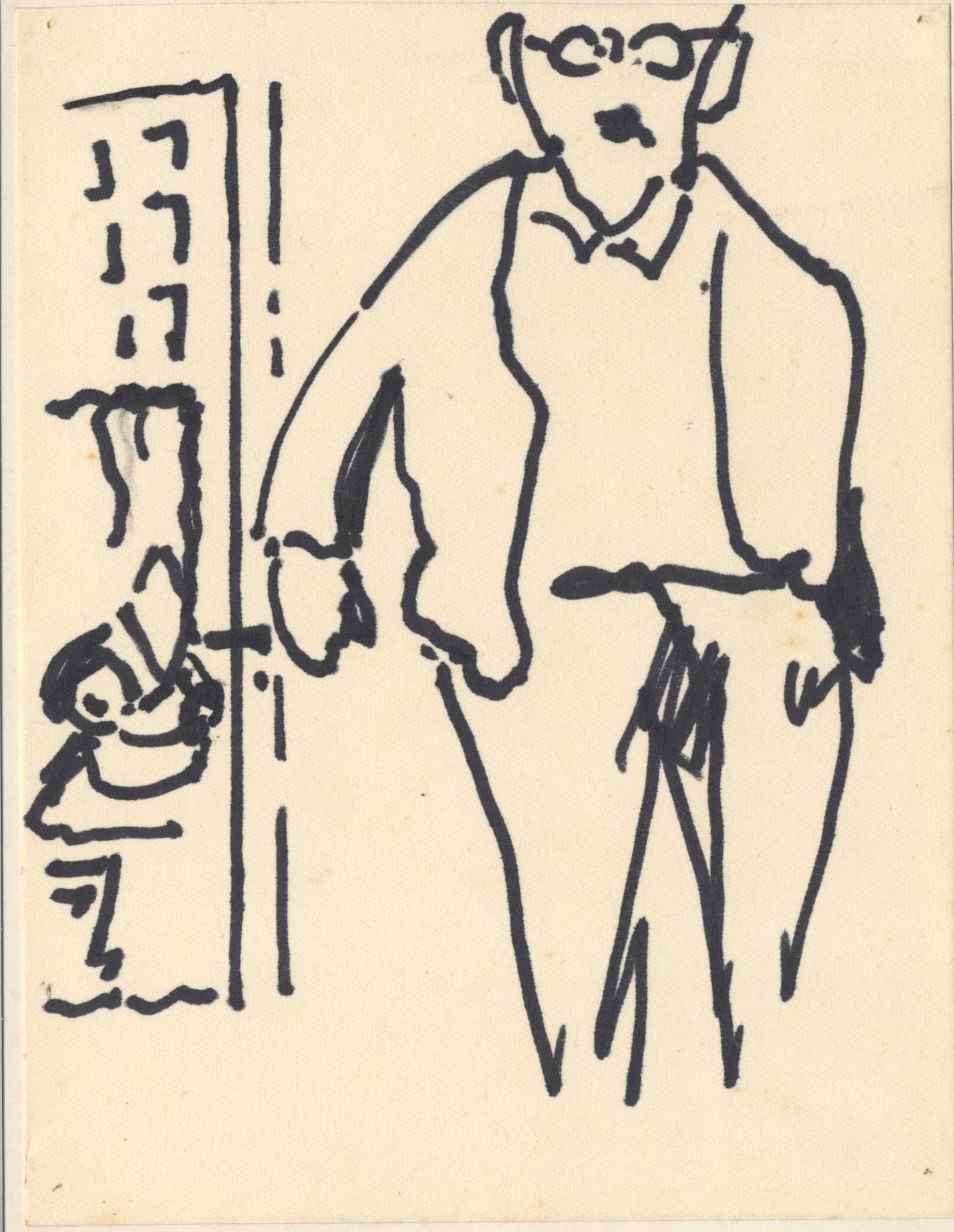 Een man met een hand in de broekzak