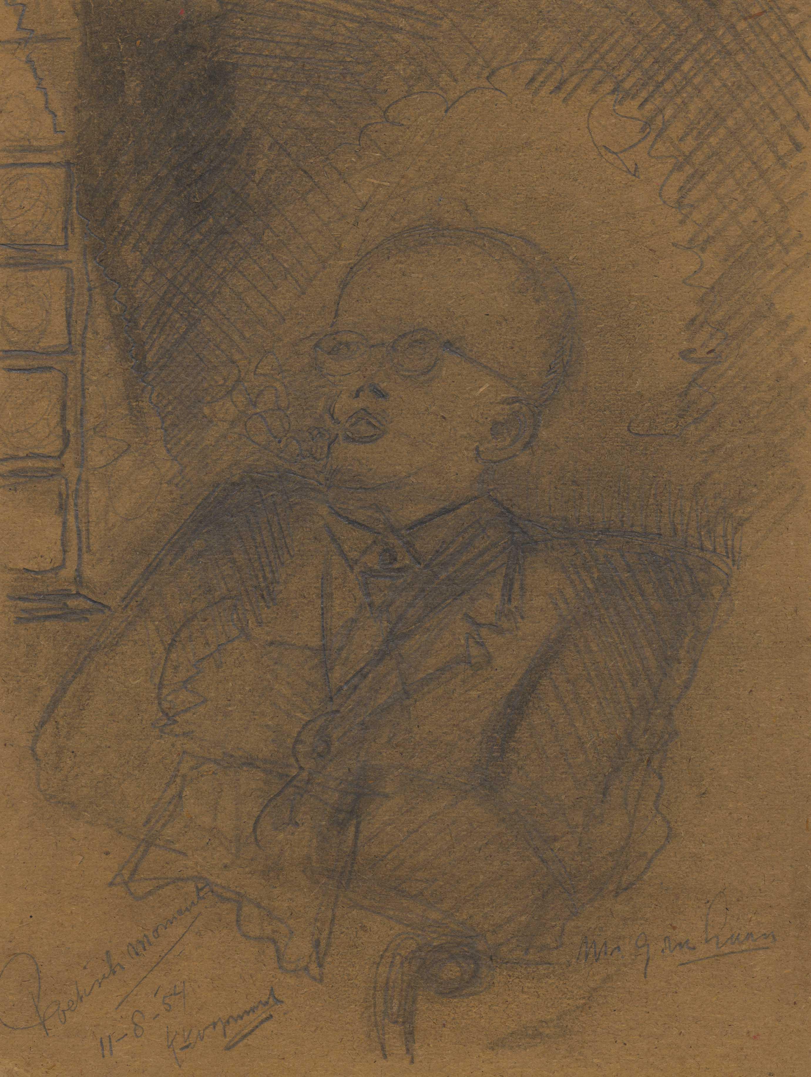 Een patiënt, luisterend naar de radio
