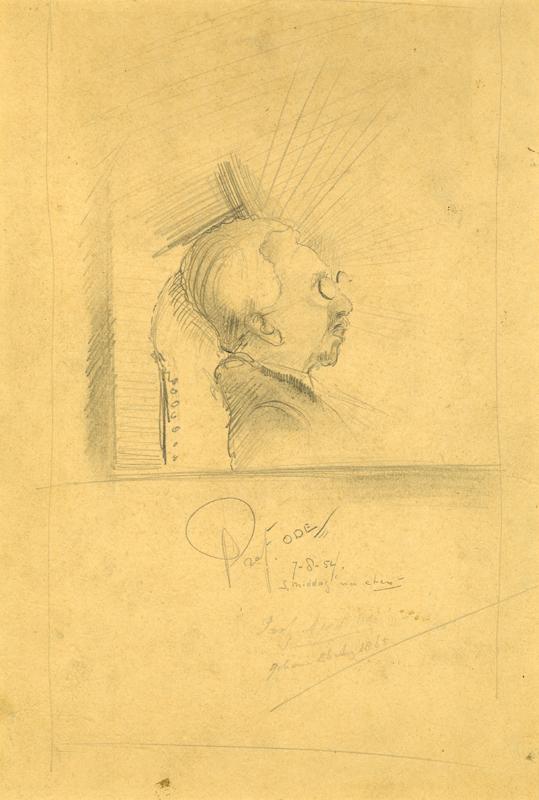 Portret van professor Odé