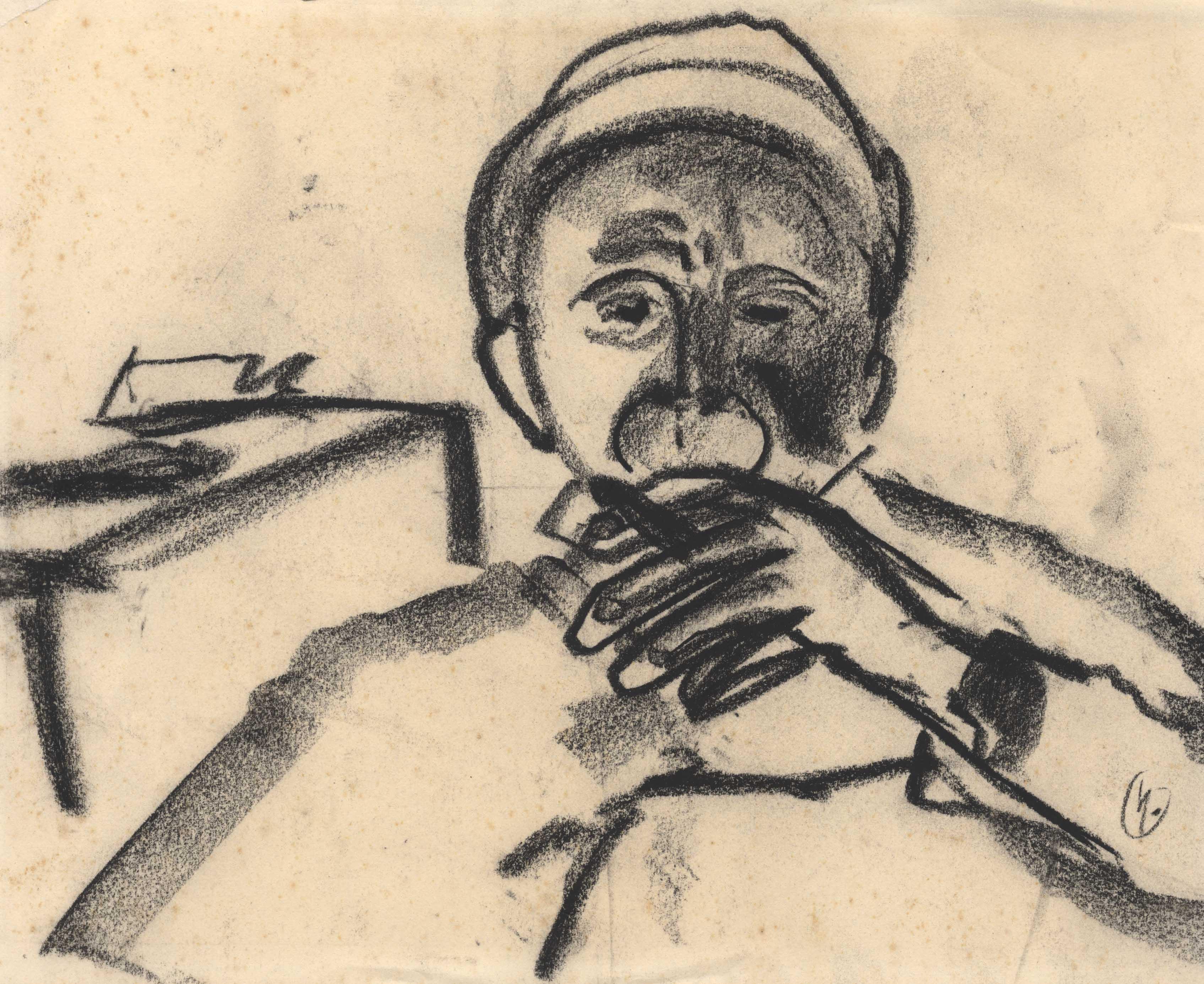 Een man met een sigaar