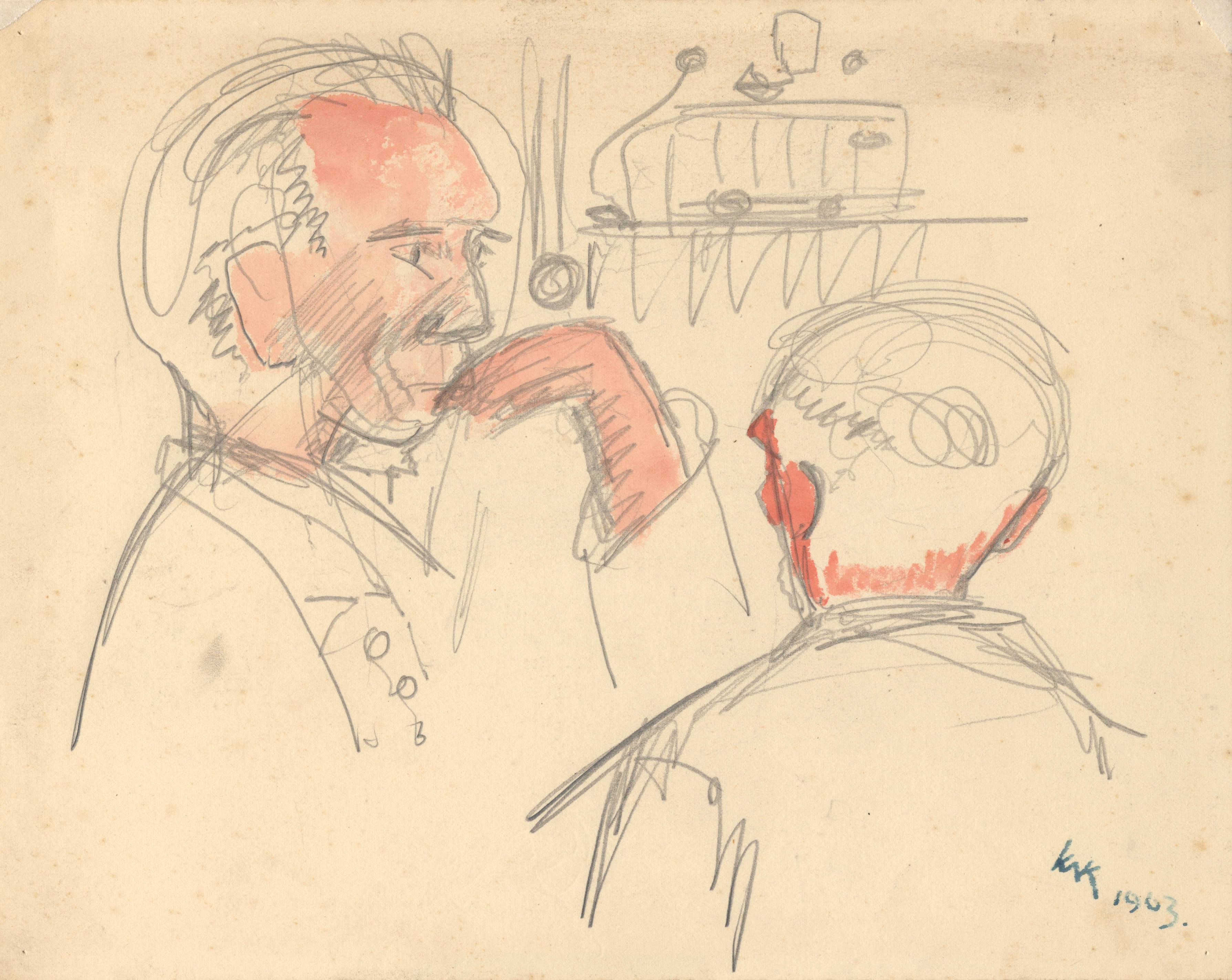 Twee patiënten in de weverij