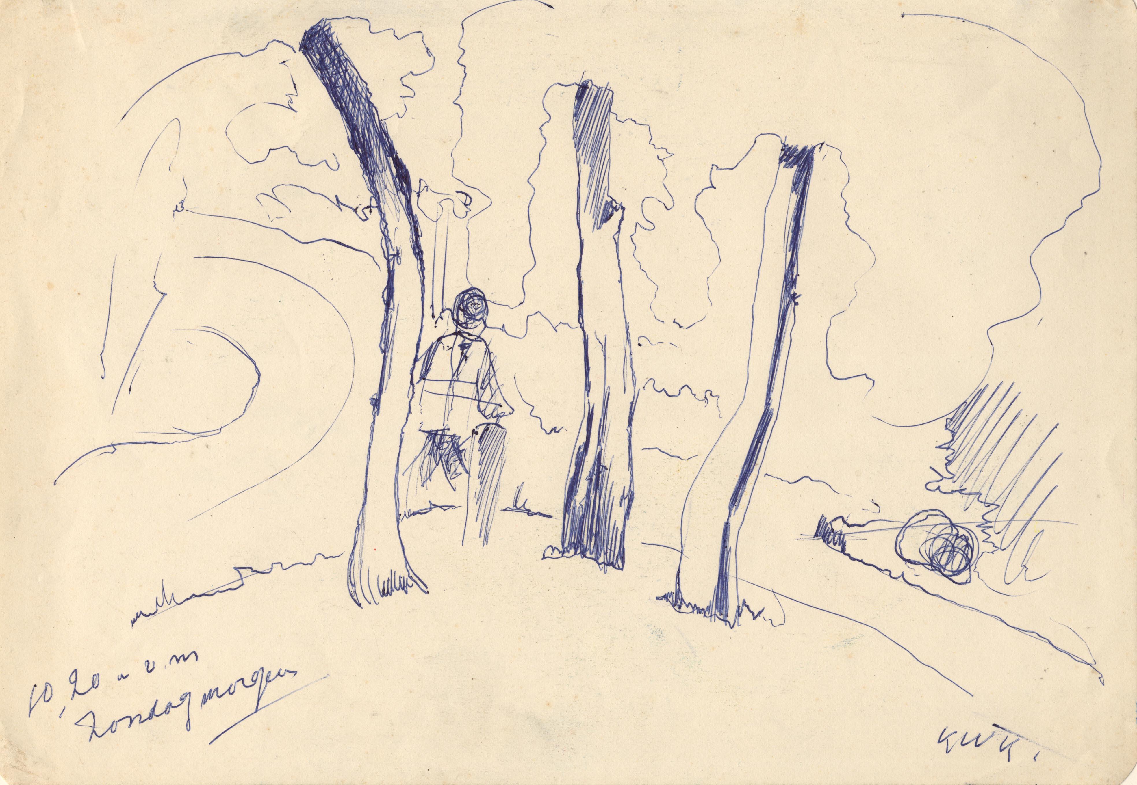 Een man in het park