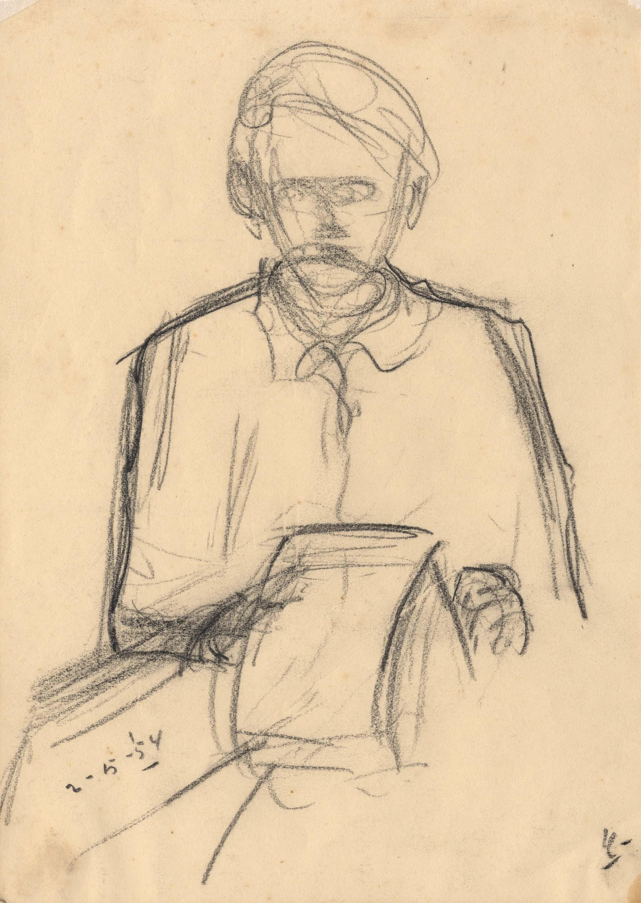 Een man met een krant