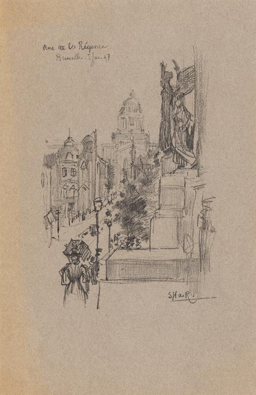 Rue de La Règence Bruxelle, 5 juni 1897