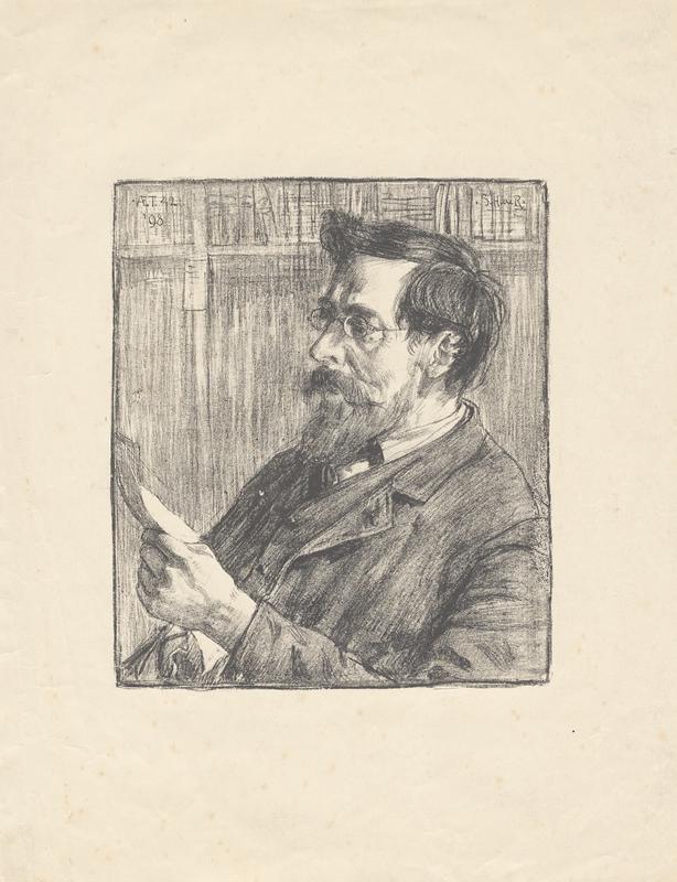Portret van lezende man
