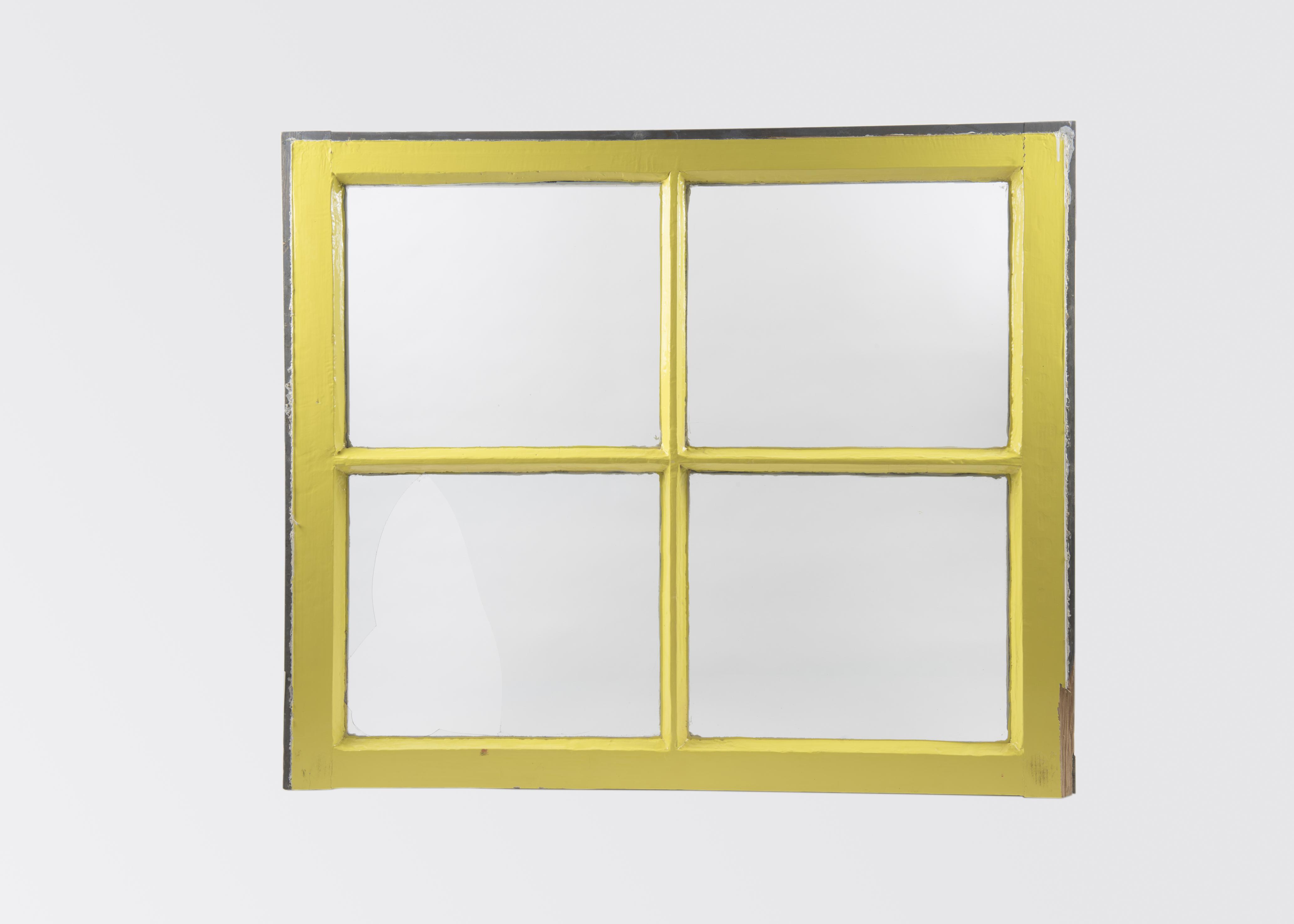 Geel raam kozijn