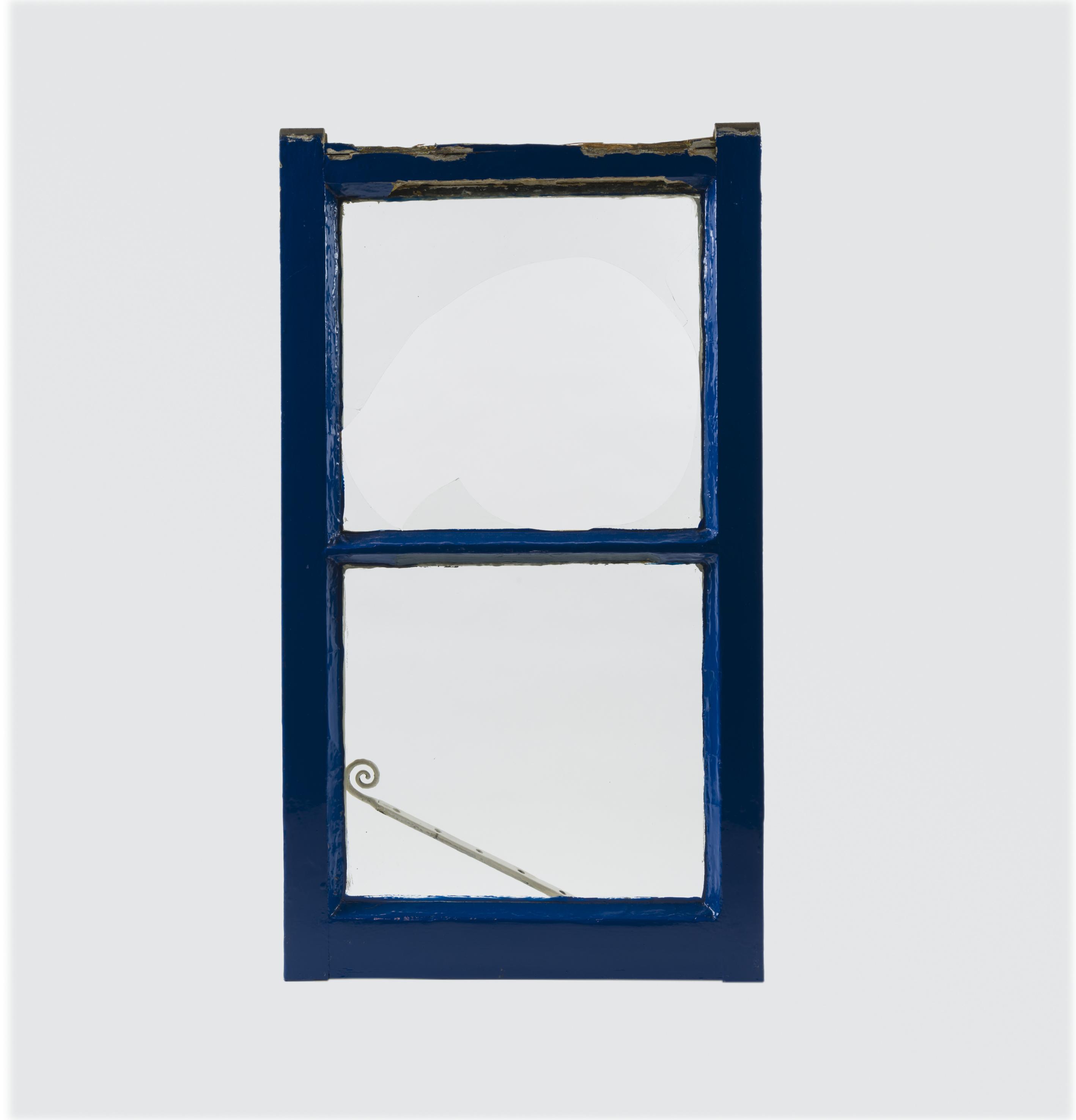Blauw raam kozijn