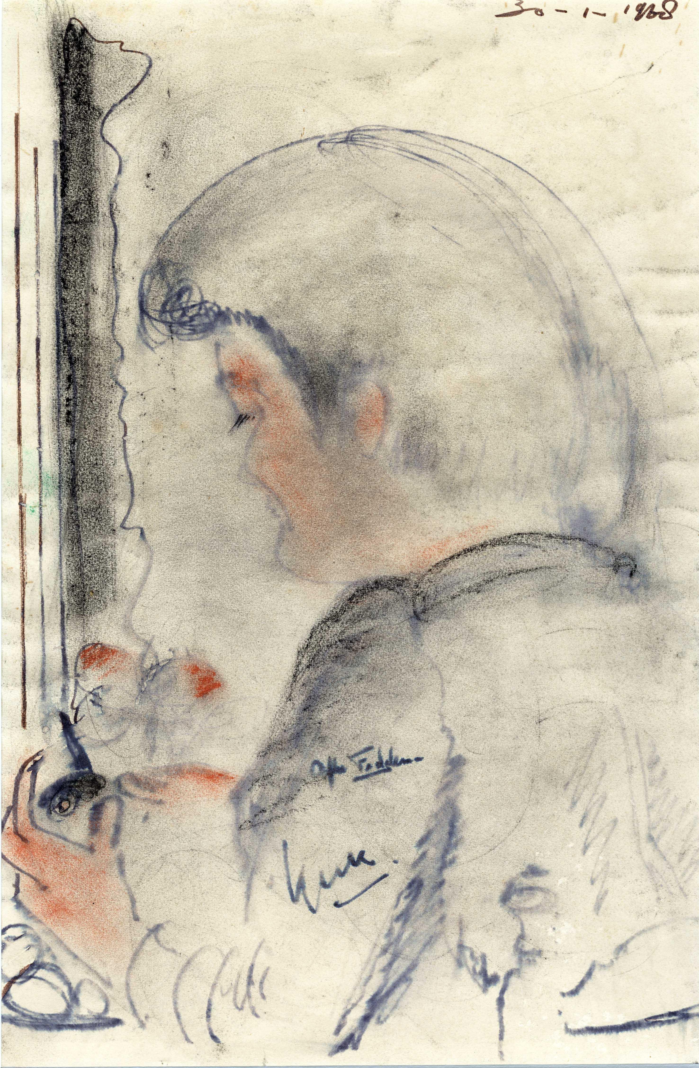 Het portret van Afke Feddema
