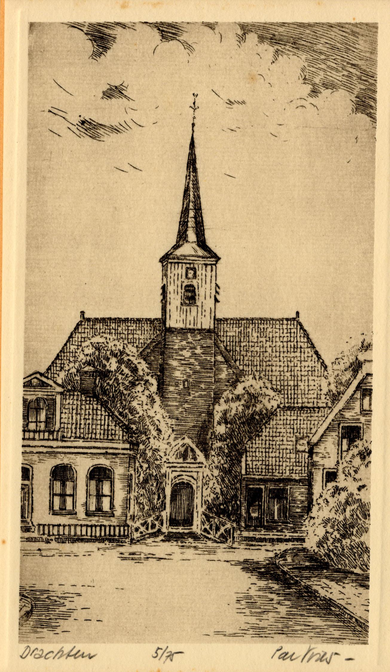 Ets van de Nederlands Hervormde kerk aan de Zuidkade te Drachten