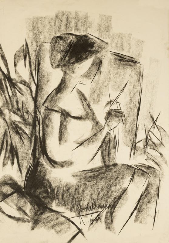 Mevrouw Feddema zittend, 1968