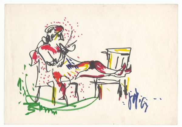 Een breiende vrouw, 1967