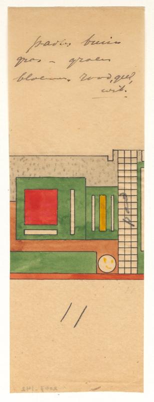 Kleurontwerp van de tuin