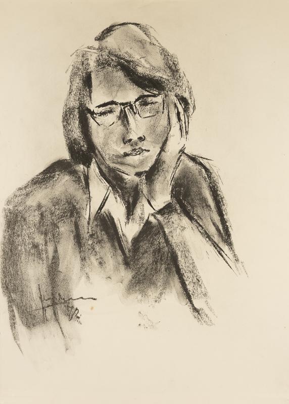 Jonge vrouw met bril, 1972