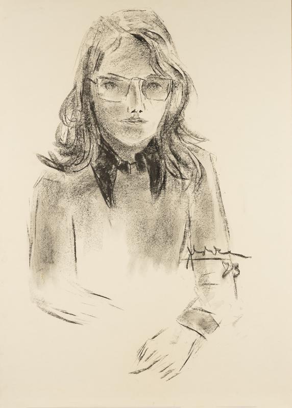 Jonge vrouw met bril, 1973