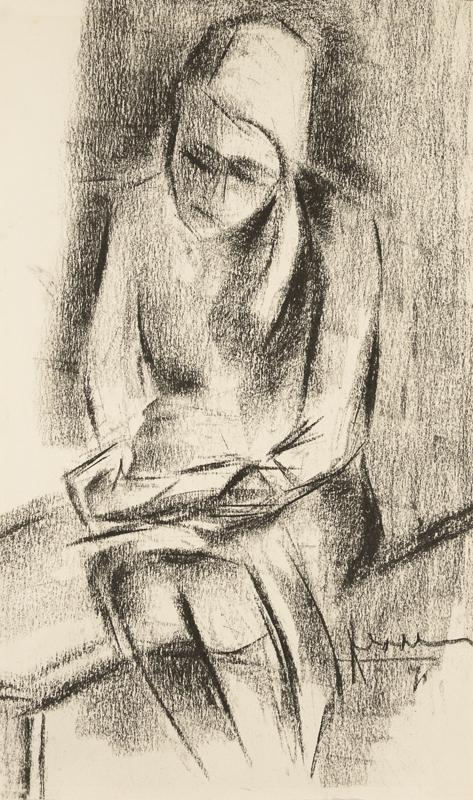 het portret van een lezend meisje met blond haar, 1971
