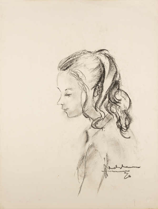 Meisje met paardestaart, 1972