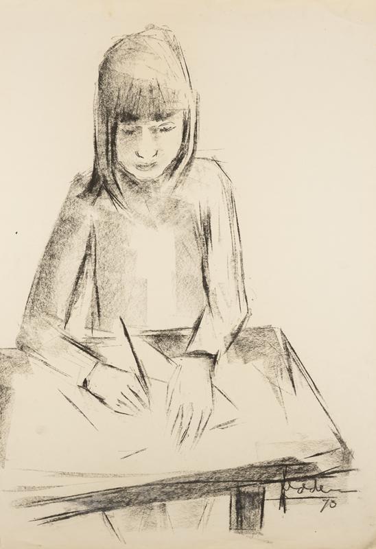 Schrijvend meisje, 1973