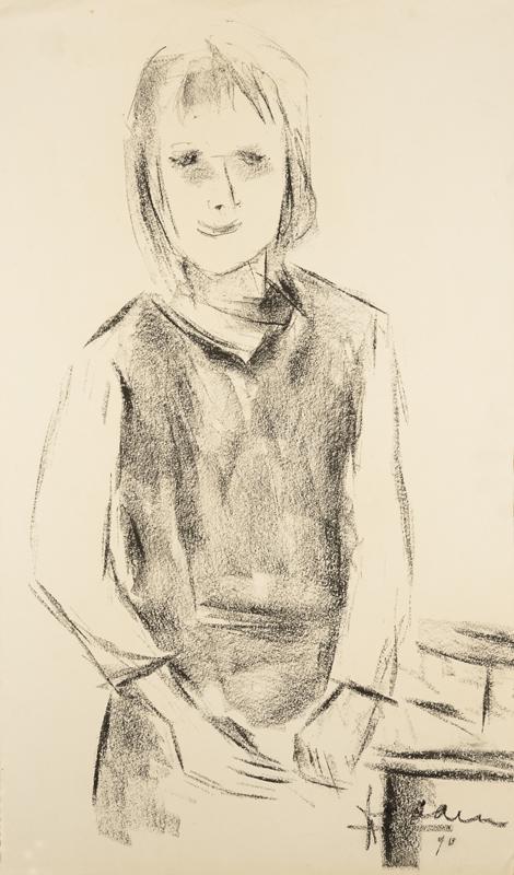 Portret van een meisje, 1970
