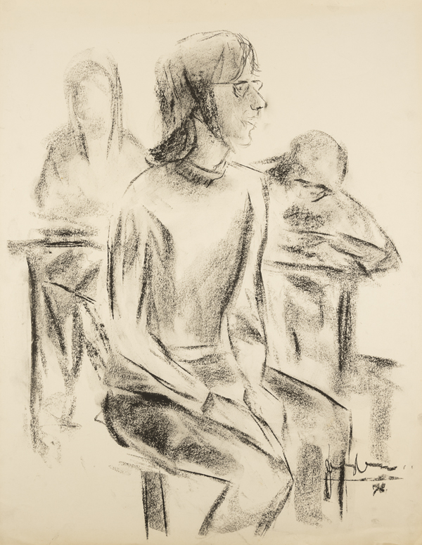 Meisje met figuren op de achtergrond, 1973