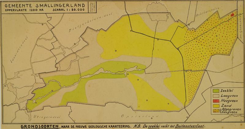 Kaart met grondsoorten naar de nieuwe geologische kaartering