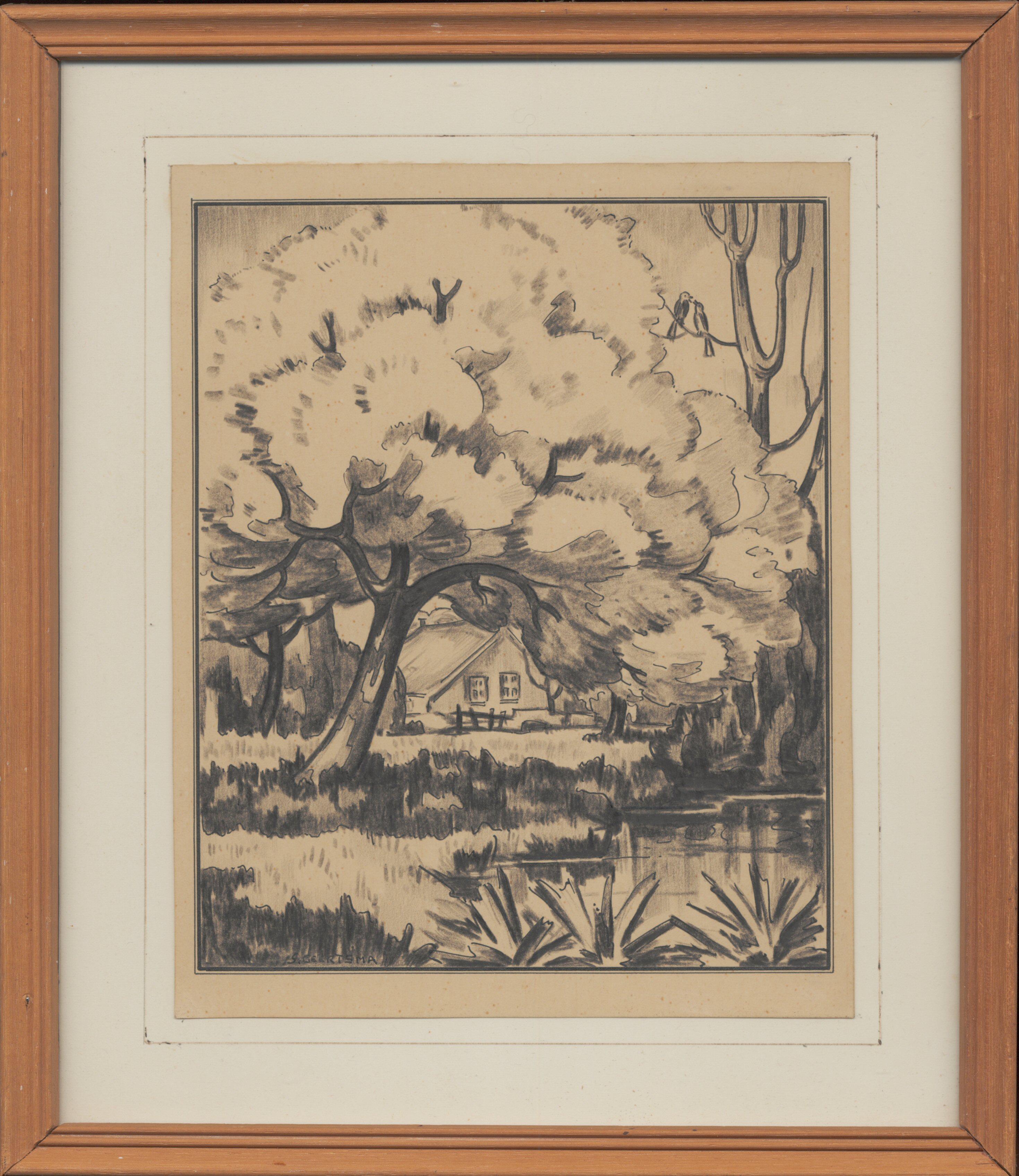 Landschap met boerderijtje, 1945
